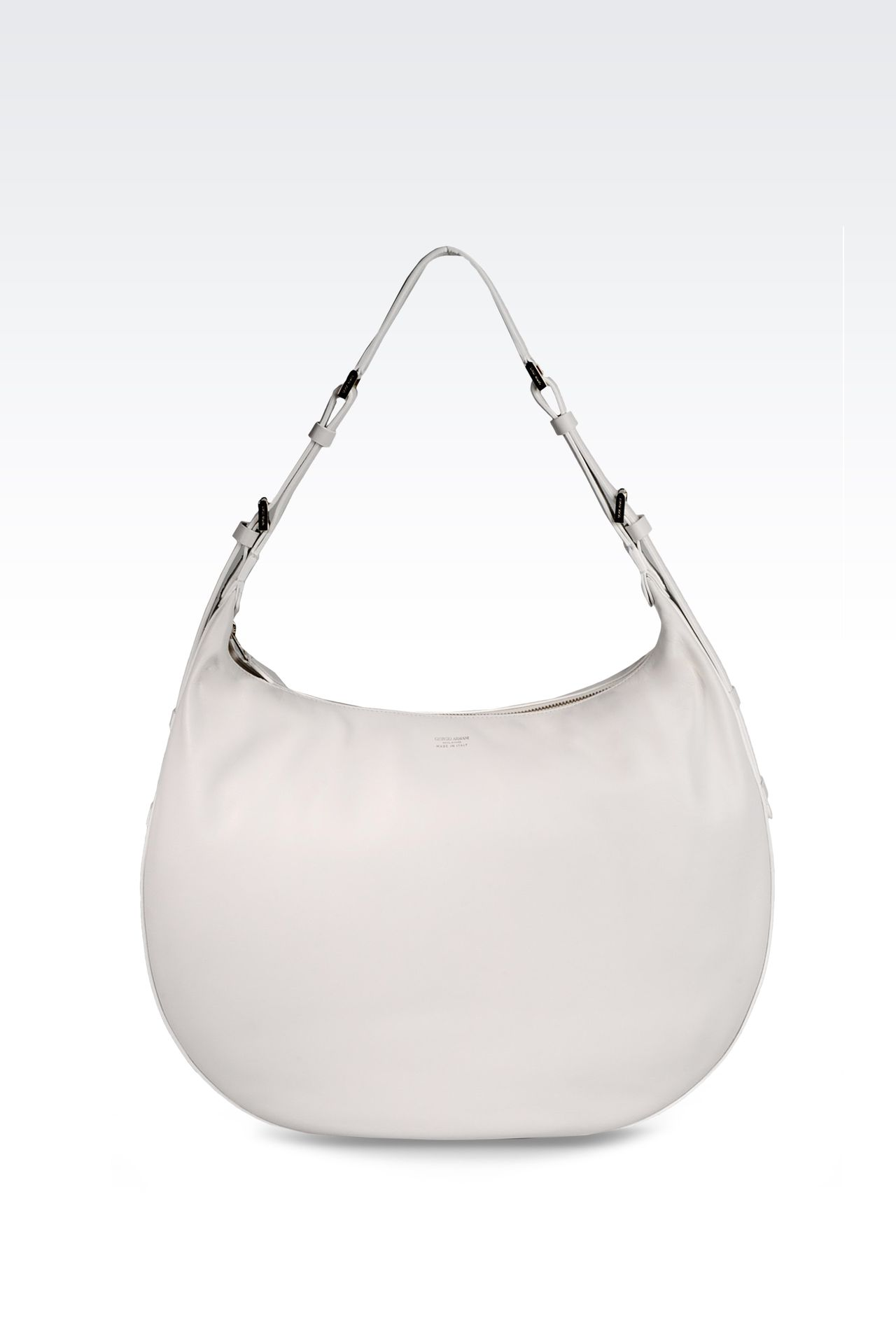 LARGE LAMBSKIN HOBO BAG: Hobo bags Women by Armani - 0