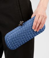 POCHETTE STRETCH KNOT IN INTRECCIO FAILLE MOIRE ELECTRIQUE