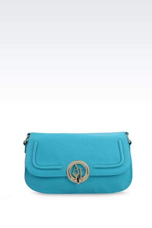 CROSS BODY IN ECO SAFFIANO WITH LOGO : Messenger bags Women by Armani - 1