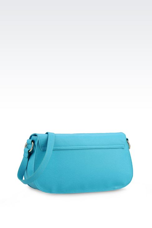 CROSS BODY IN ECO SAFFIANO WITH LOGO : Messenger bags Women by Armani - 2