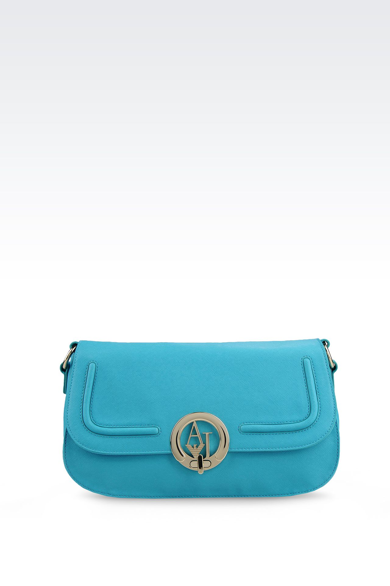 CROSS BODY IN ECO SAFFIANO WITH LOGO : Messenger bags Women by Armani - 0