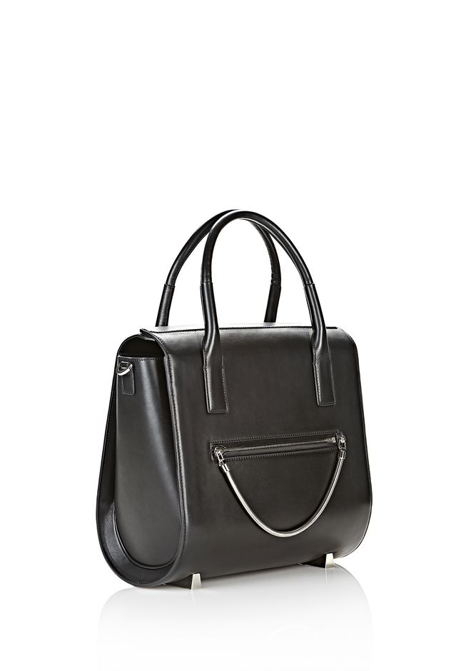 ALEXANDER WANG LARGE CHASTITY IN BLACK WITH RHODIUM  TOTE Adult 12_n_e