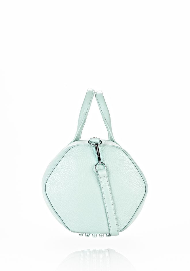 ALEXANDER WANG ROCCO IN PEBBLED PEPPERMINT WITH ZINC Shoulder bag Adult 12_n_e