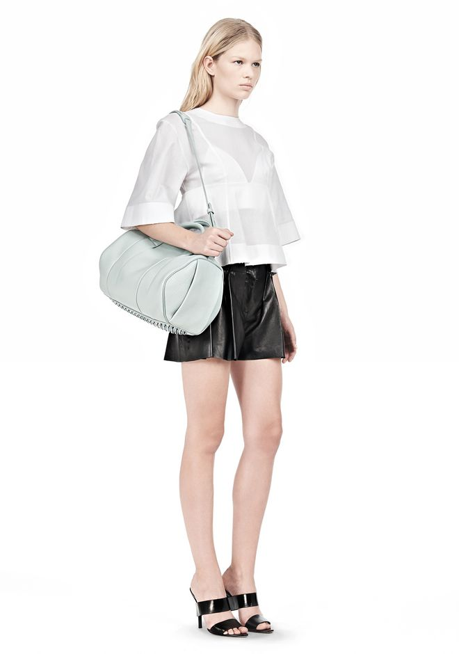 ALEXANDER WANG ROCCO IN PEBBLED PEPPERMINT WITH ZINC Shoulder bag Adult 12_n_r