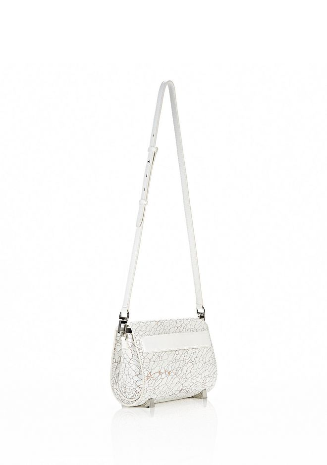 ALEXANDER WANG CHASTITY MINI IN HEAVY CRACKED PEROXIDE WITH RHODIUM Shoulder bag Adult 12_n_e