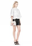 ALEXANDER WANG CHASTITY MINI IN HEAVY CRACKED PEROXIDE WITH RHODIUM Shoulder bag Adult 8_n_r