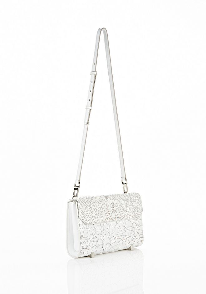 ALEXANDER WANG CHASTITY CLUTCH IN HEAVY CRACKED PEROXIDE WITH RHODIUM  CLUTCH Adult 12_n_e