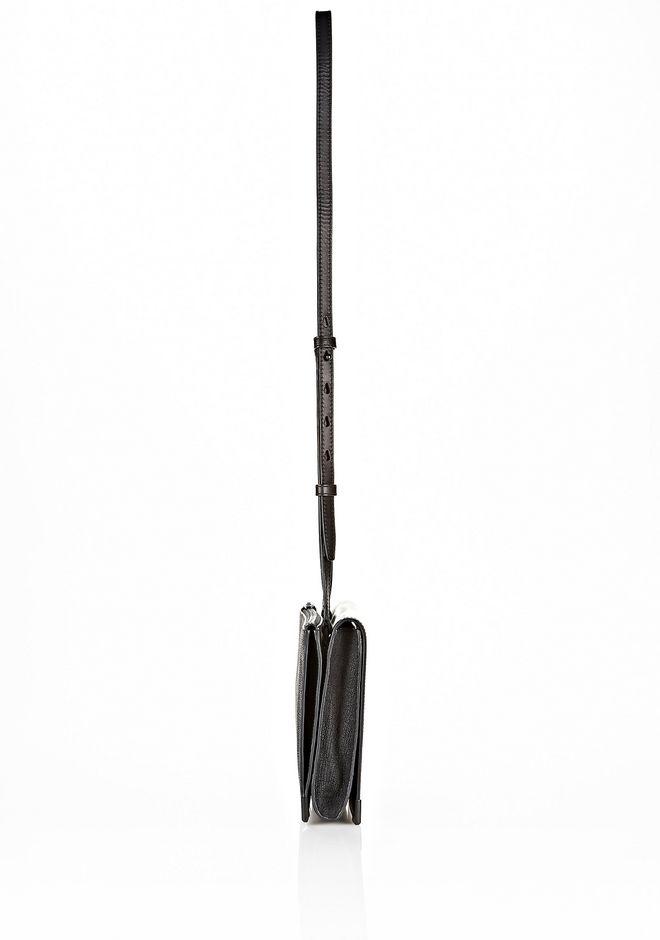 ALEXANDER WANG PRISMA SKELETAL DOUBLE ENVELOPE CLUTCH IN EMBOSSED BLACK WITH MATTE BLACK Shoulder bag Adult 12_n_a