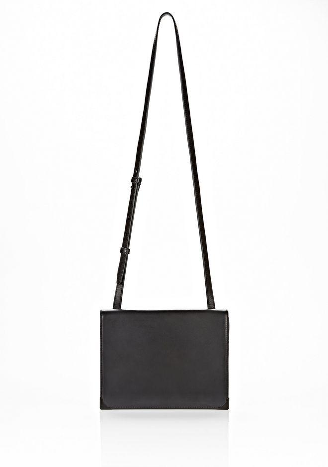 ALEXANDER WANG PRISMA SKELETAL DOUBLE ENVELOPE CLUTCH IN EMBOSSED BLACK WITH MATTE BLACK Shoulder bag Adult 12_n_d