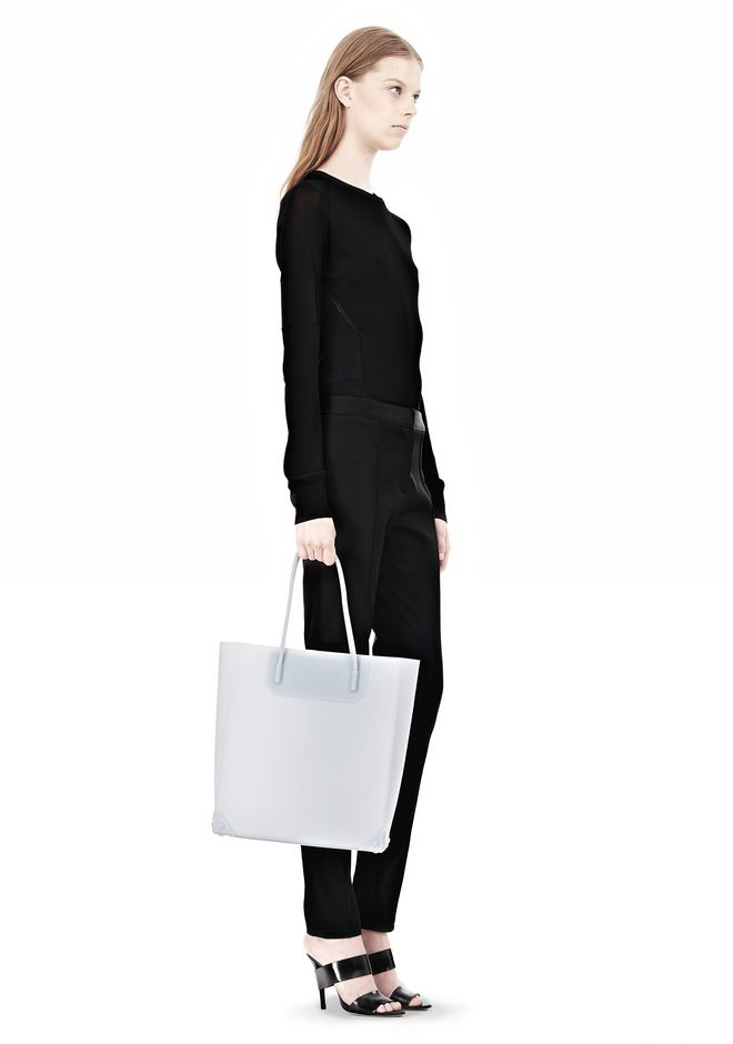 ALEXANDER WANG PRISMA MOLDED TOTE IN ICING TOTE Adult 12_n_r