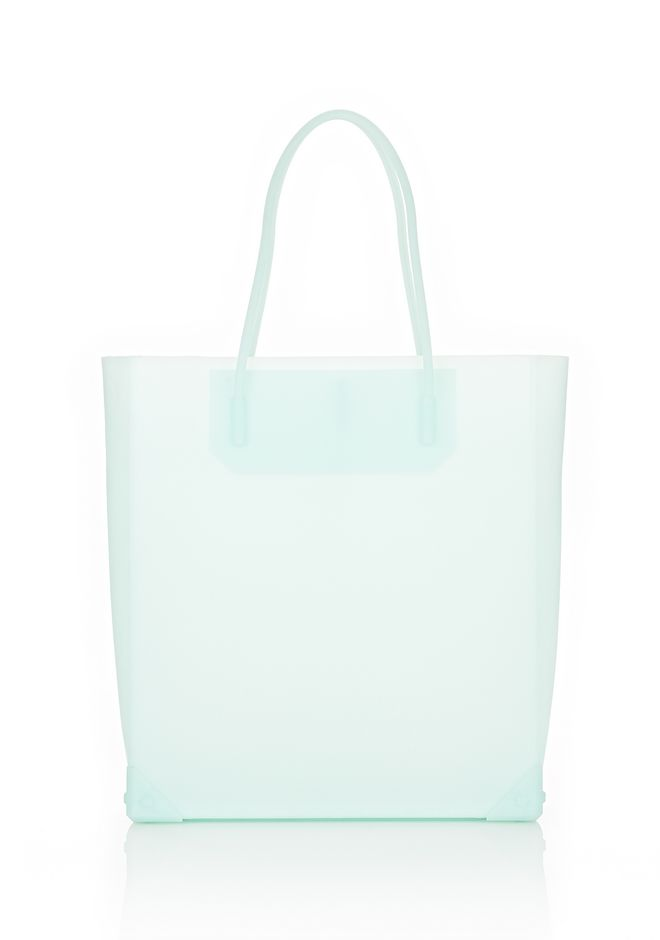 ALEXANDER WANG PRISMA MOLDED TOTE IN PEPPERMINT