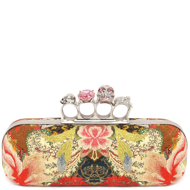 Alexander McQueen, Floral Patchwork Knucklebox Clutch