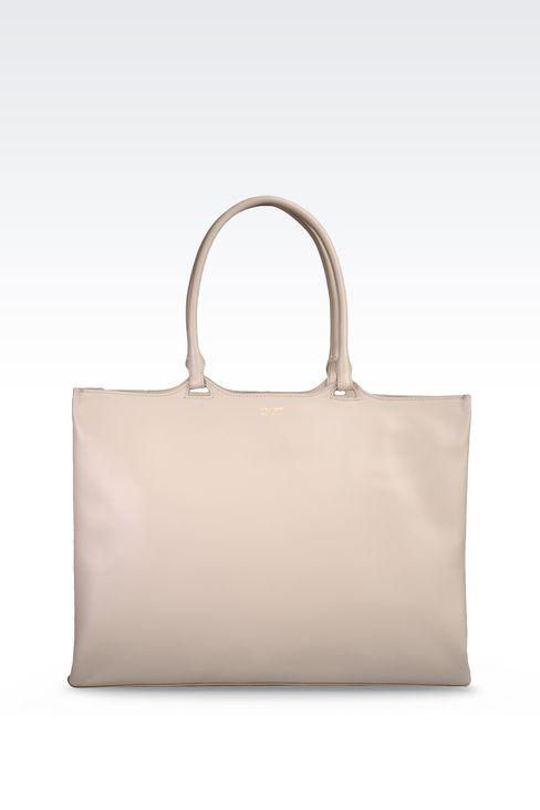 SMALL SHOPPER IN CALFSKIN: Shoppers Women by Armani - 1