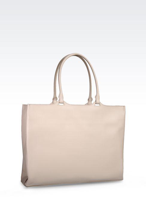 SMALL SHOPPER IN CALFSKIN: Shoppers Women by Armani - 2