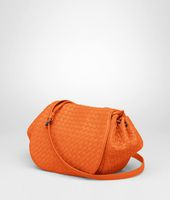 Tangerine Intrecciato Nappa Cross Body Bag