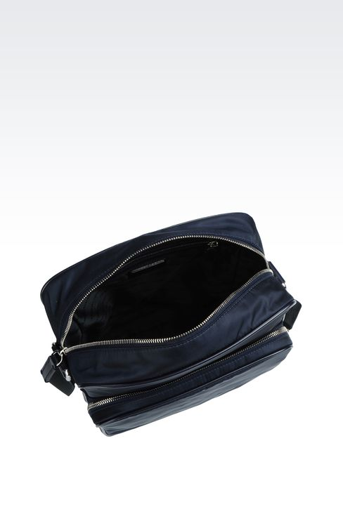SHOULDER BAG IN NYLON WITH LEATHER TRIM: Messenger bags Men by Armani - 3