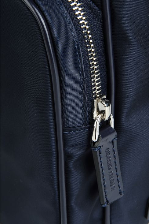 SHOULDER BAG IN NYLON WITH LEATHER TRIM: Messenger bags Men by Armani - 4