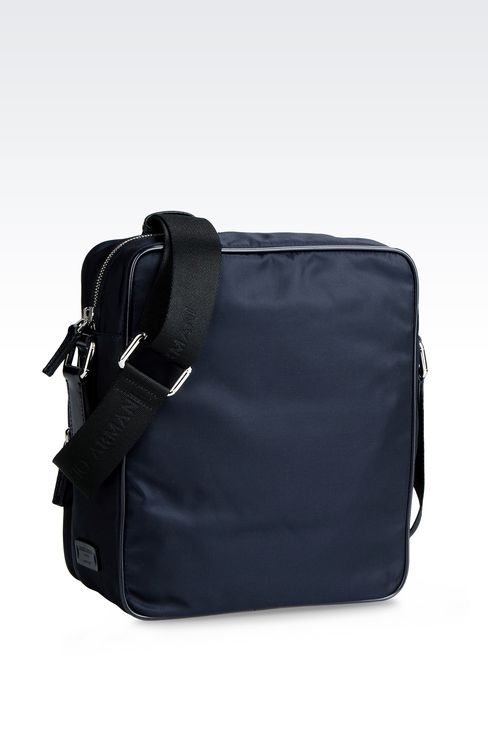 SHOULDER BAG IN NYLON WITH LEATHER TRIM: Messenger bags Men by Armani - 2