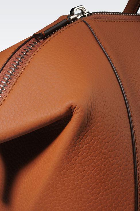 WEEKEND BAG IN GRAINED CALFSKIN: Weekender bags Men by Armani - 4