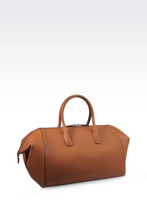 WEEKEND BAG IN GRAINED CALFSKIN: Weekender bags Men by Armani - 2
