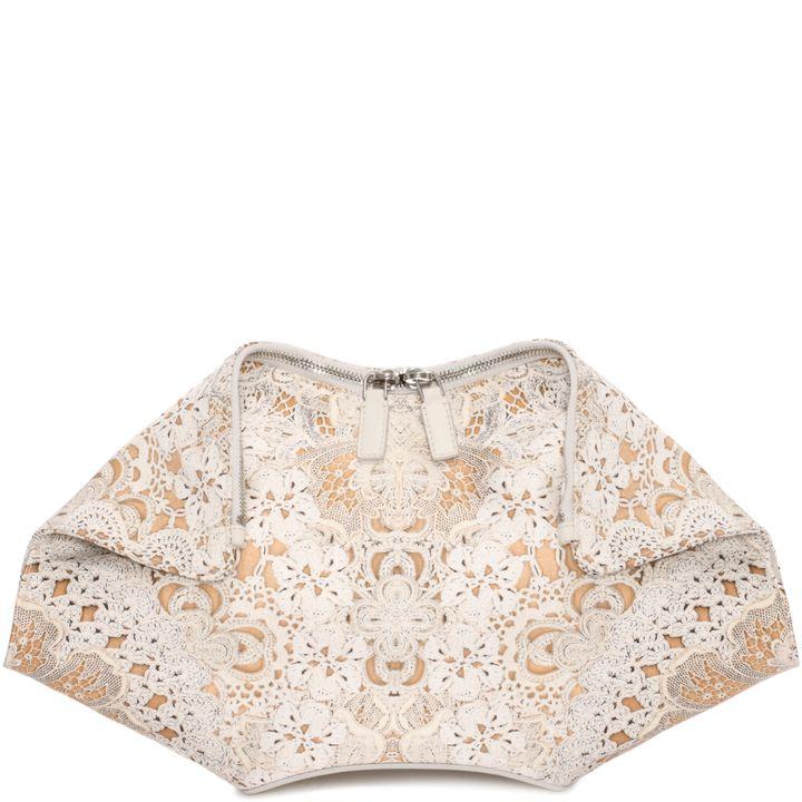 Alexander McQueen, Crochet Lace Print De Manta Clutch