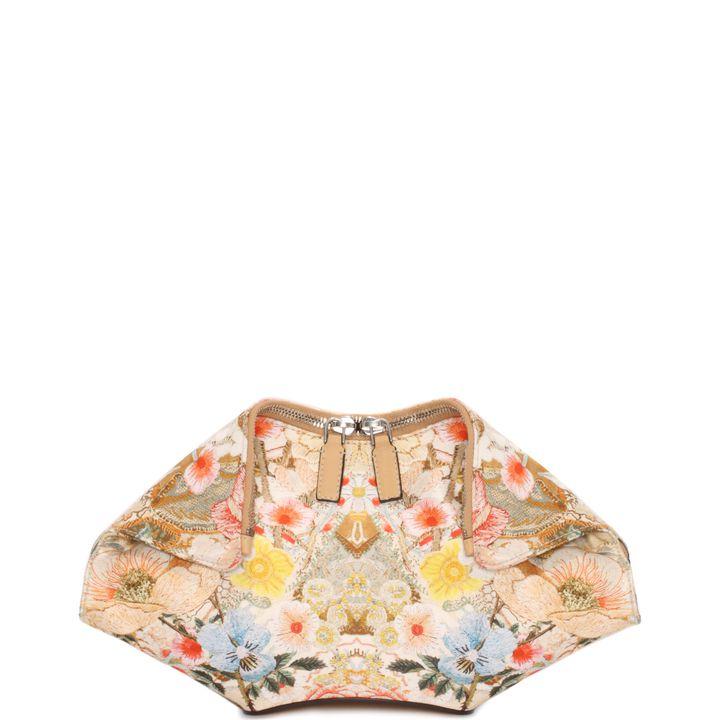 Alexander McQueen, Mini Pochette De Manta Stampa Patchwork Floral
