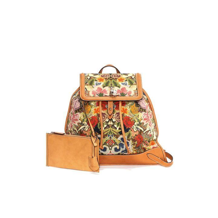 Alexander McQueen, Floral Patchwork Skull Padlock Backpack