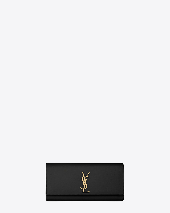 ysl mens messenger bag - Saint Laurent CLASSIC MONOGRAM SAINT LAURENT CLUTCH IN Black Grain ...