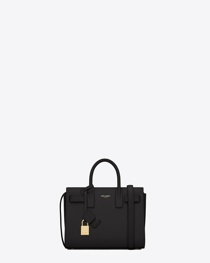 ysl cross bag - Saint Laurent Classic Nano Sac De Jour Bag In Black Leather | YSL.com