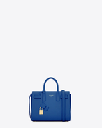 Classic Nano Sac De Jour Bag in Royal Blue Leather
