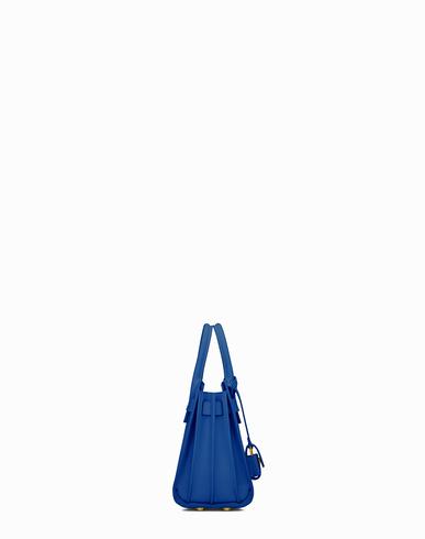 Classic Nano Sac De Jour Bag In Royal Blue Leather