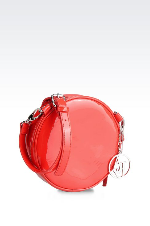 SHOULDER BAG IN PATENT FAUX LEATHER WITH PENDANT: Shoulder bags Women by Armani - 2