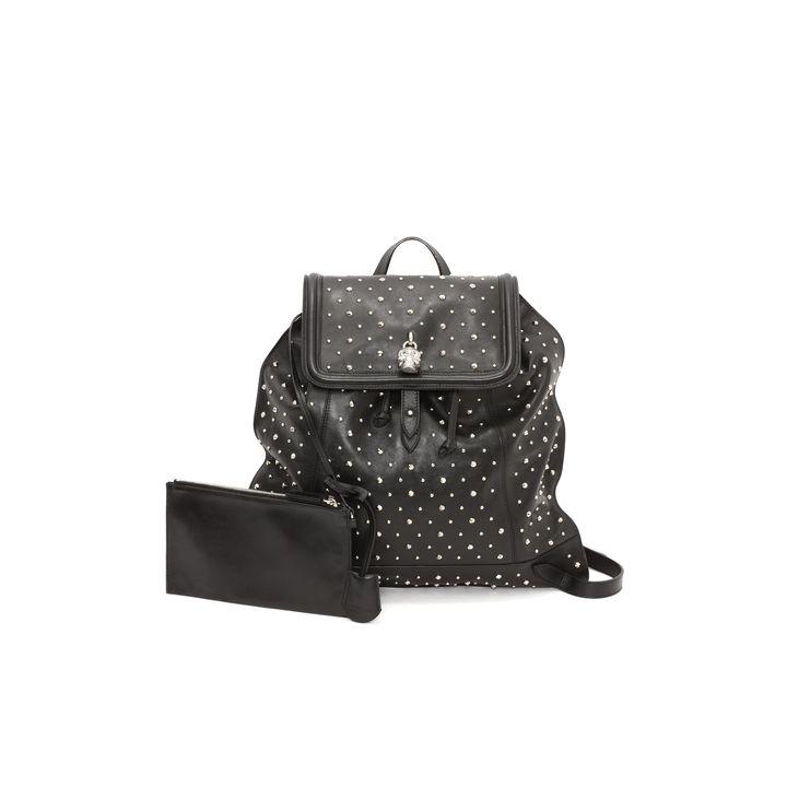 Alexander McQueen, Studded Leather Skull Padlock Backpack