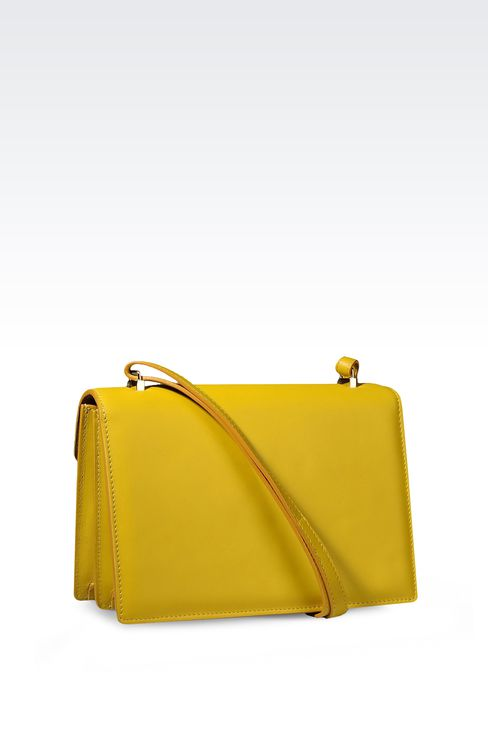 SHOULDER BAG IN CALFSKIN LEATHER: Top handles Women by Armani - 2