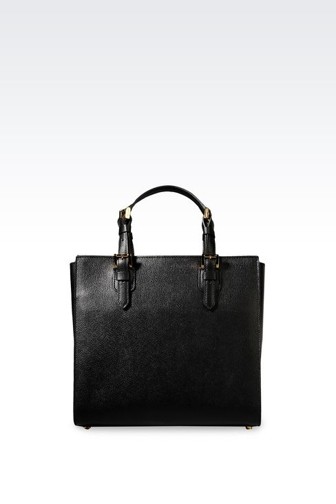 SMALL SHOPPER GIORGIO ARMANI BORGONUOVO BAG: Shoppers Women by Armani - 2