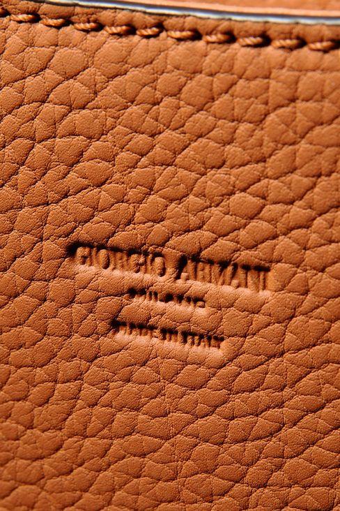 SHOULDER BAG IN CALFSKIN LEATHER: Hobo bags Men by Armani - 4