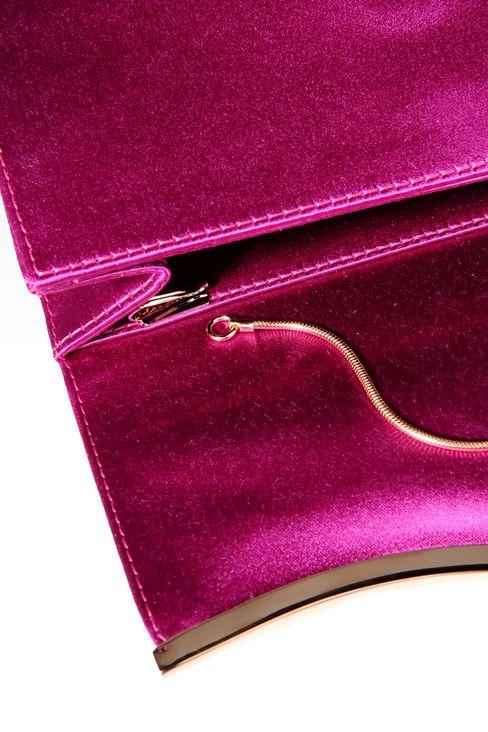 SATIN CLUTCH WITH DETACHABLE SHOULDER STRAP: Clutch bags Women by Armani - 4