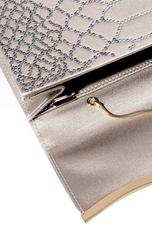 RHINESTONE-EMBELLISHED SATIN CLUTCH: Clutch bags Women by Armani - 3