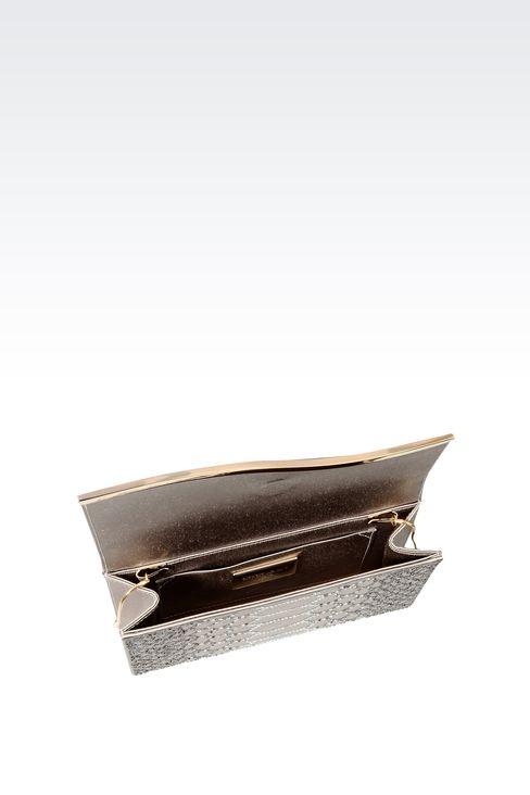 RHINESTONE-EMBELLISHED SATIN CLUTCH: Clutch bags Women by Armani - 4