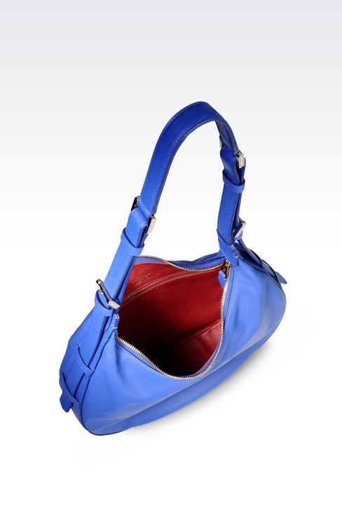 LAMBSKIN HOBO BAG: Hobo bags Women by Armani - 3