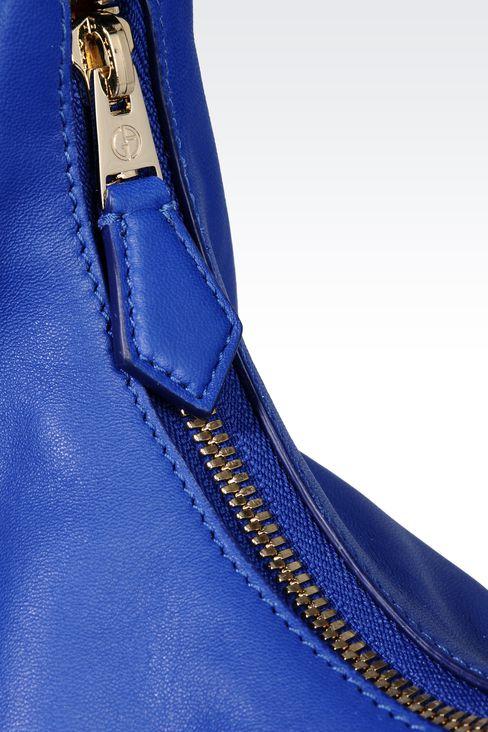 LAMBSKIN HOBO BAG: Hobo bags Women by Armani - 4