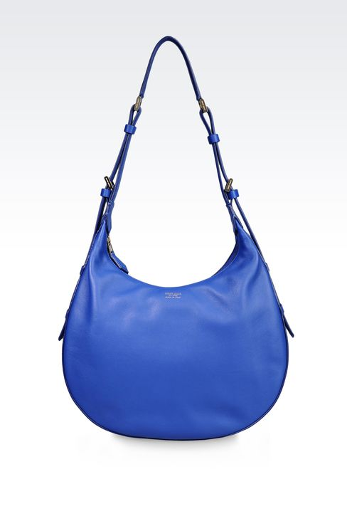 LAMBSKIN HOBO BAG: Hobo bags Women by Armani - 1