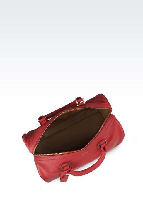 SMALL LAMBSKIN TOTE: Top handles Women by Armani - 3