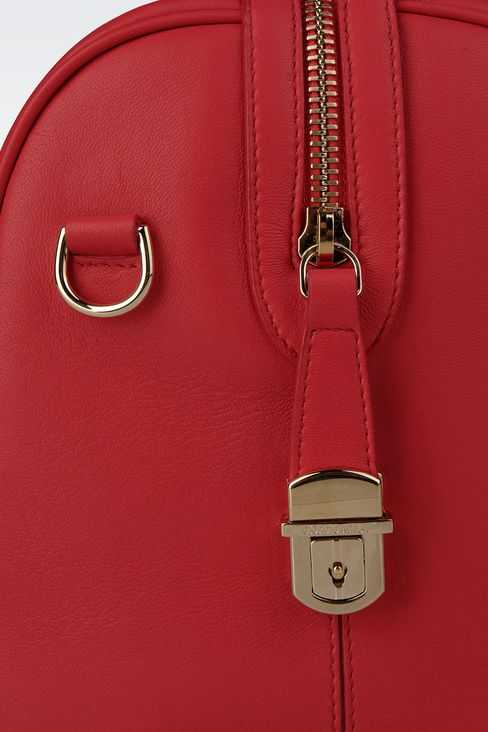 SMALL LAMBSKIN TOTE: Top handles Women by Armani - 4