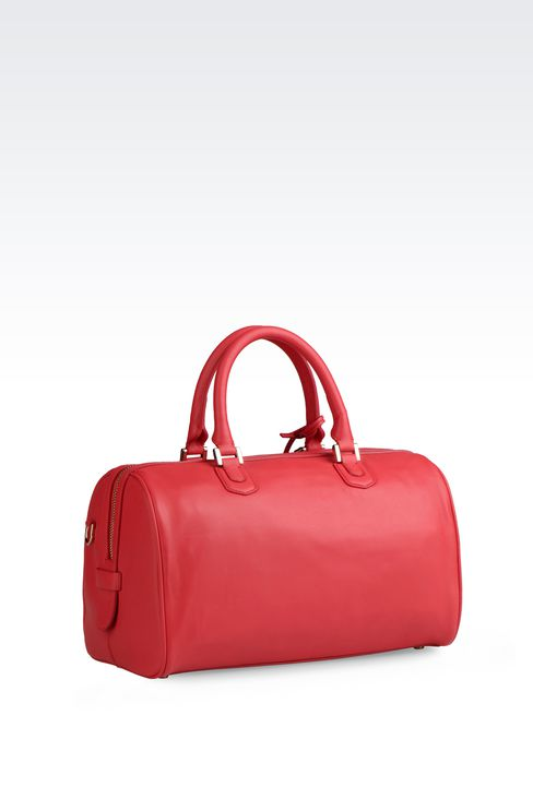 SMALL LAMBSKIN TOTE: Top handles Women by Armani - 2