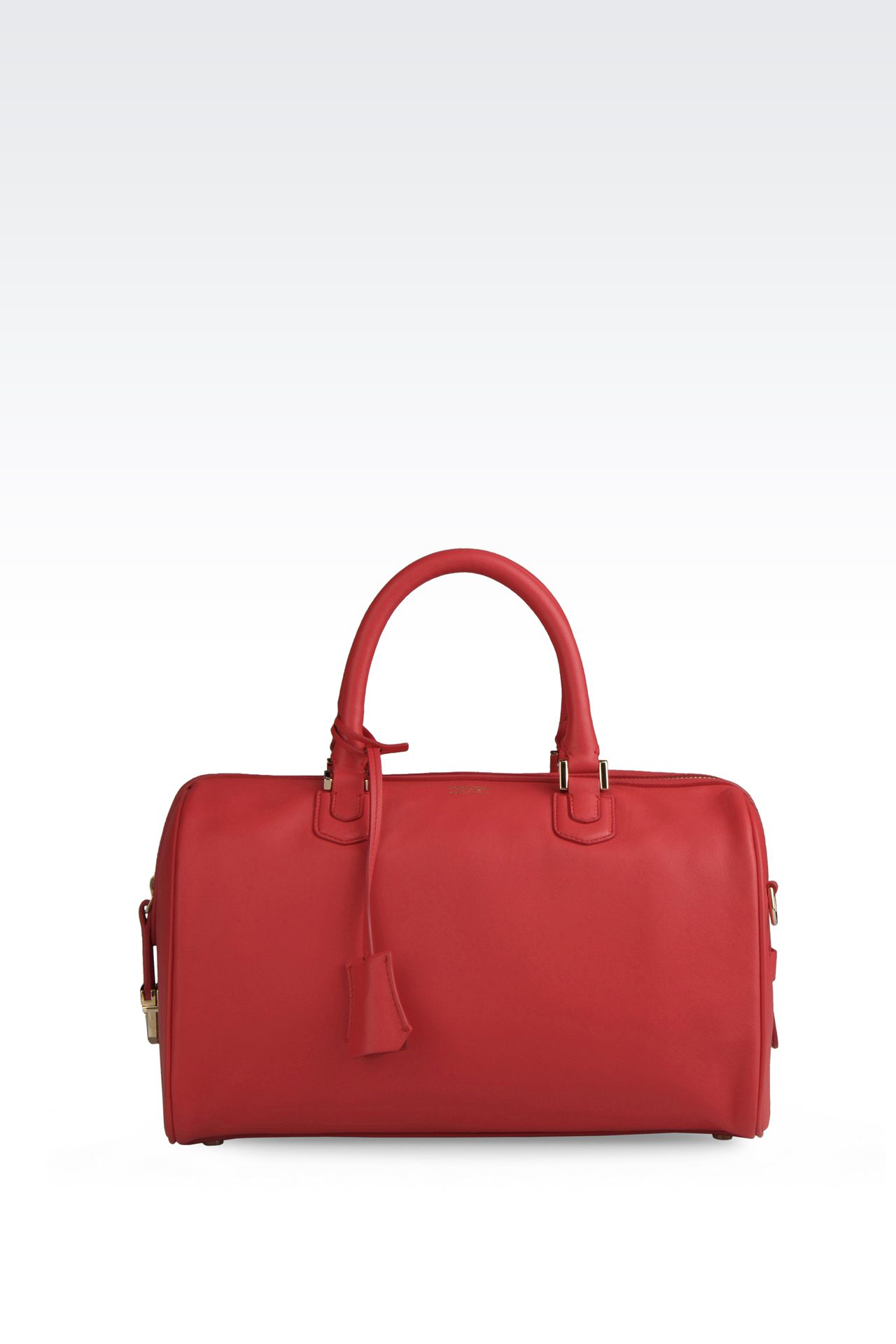 SMALL LAMBSKIN TOTE: Top handles Women by Armani - 0