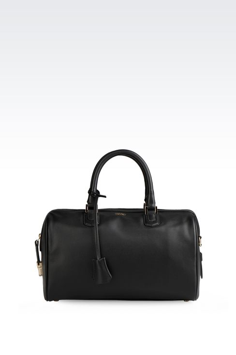 SMALL LAMBSKIN TOTE: Top handles Women by Armani - 1
