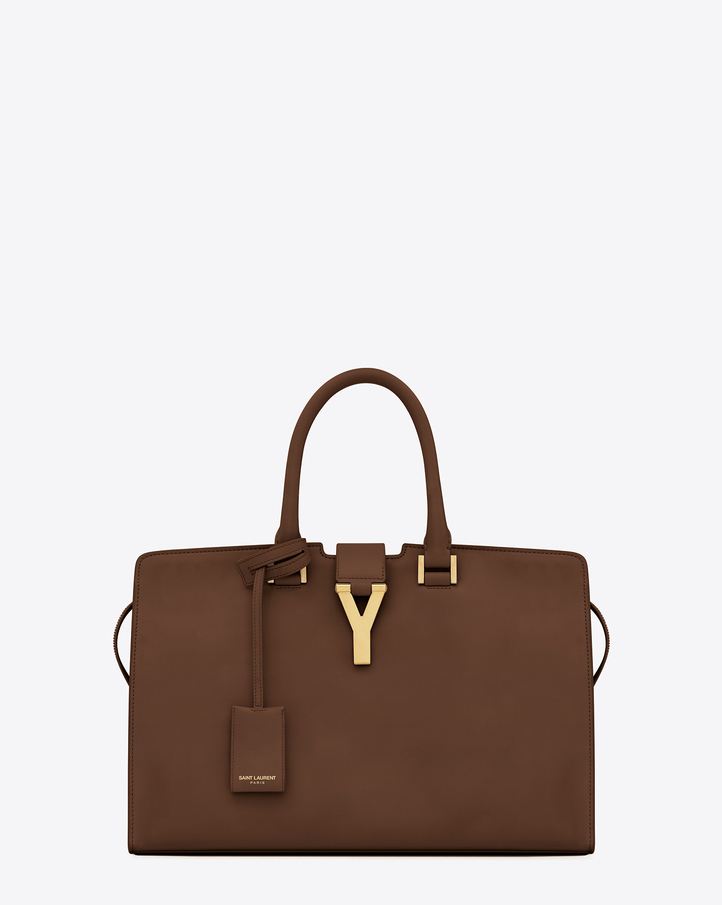 Saint Laurent Classic Cabas Y Bag In Cognac Leather | YSL.com