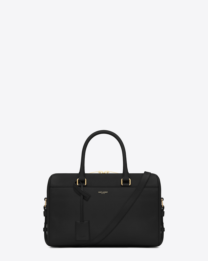 saint laurant bag - Saint Laurent Classic Duffle 6 Bag In Black Leather | YSL.com