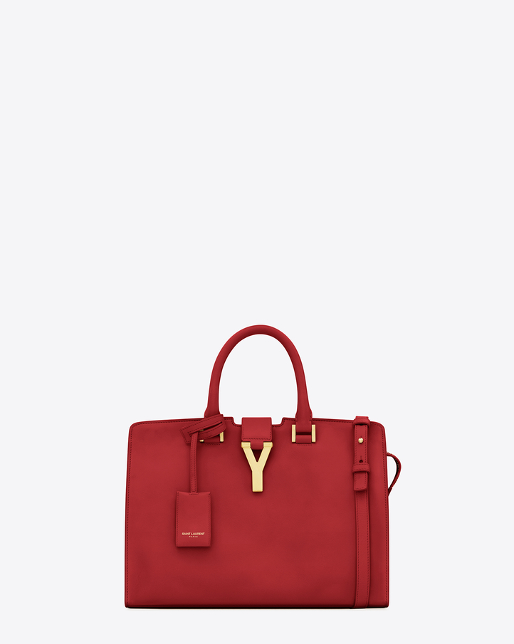 replica ysl bags uk - Saint Laurent Classic Small Cabas Y Bag In Red Leather | YSL.com